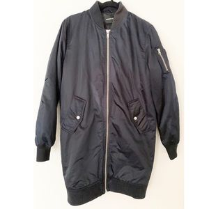 Members Only Deep Navy Blue Long Jacket